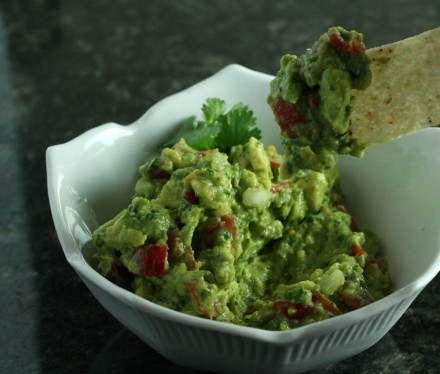 Dipping a chip into guacamole