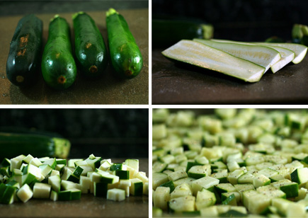 zucchini slideshow in a row