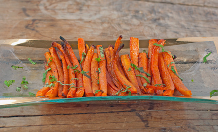 roasted pomegranate molasses carrots