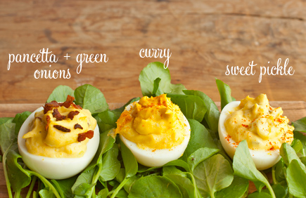 deviled eggs labeled