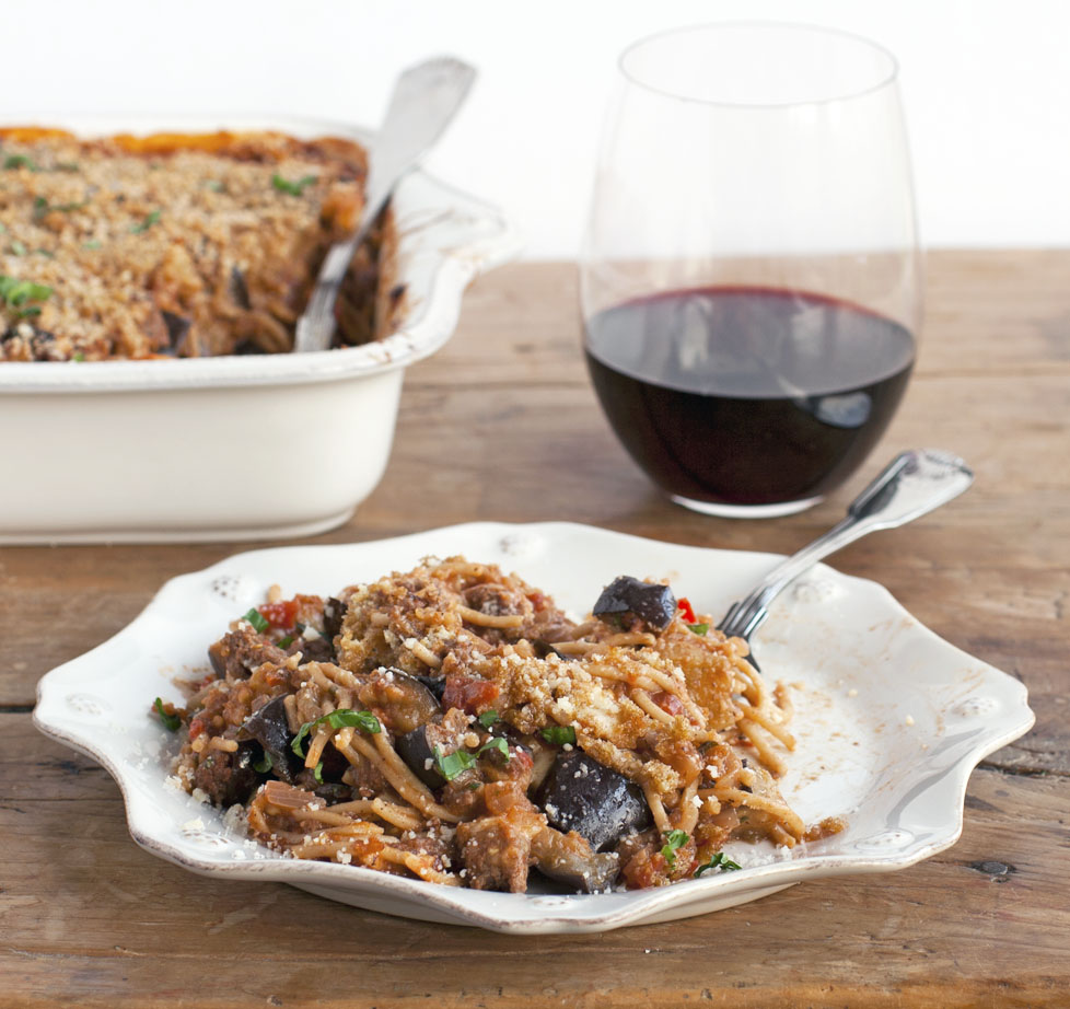 Spicy Eggplant Spaghetti Bake | Plum Pie