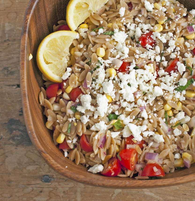 Orzo Salad with Corn, Tomatoes, and Feta | Plum Pie