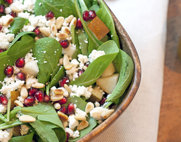 Arugula Pear + Goat Cheese Salad | Plum Pie
