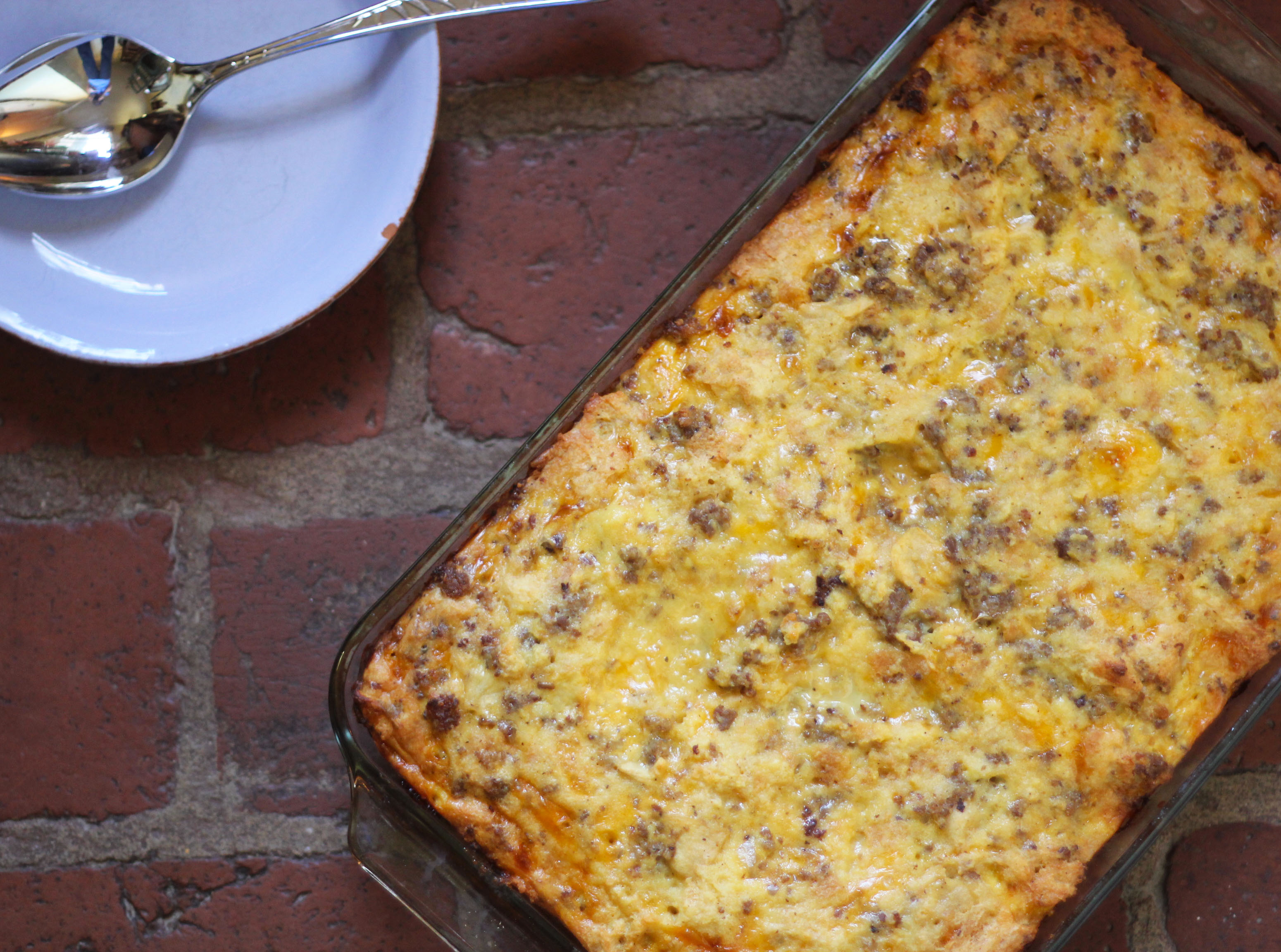 Biscuit, Sausage, Apple, and Cheese Breakfast Casserole | Plum Pie