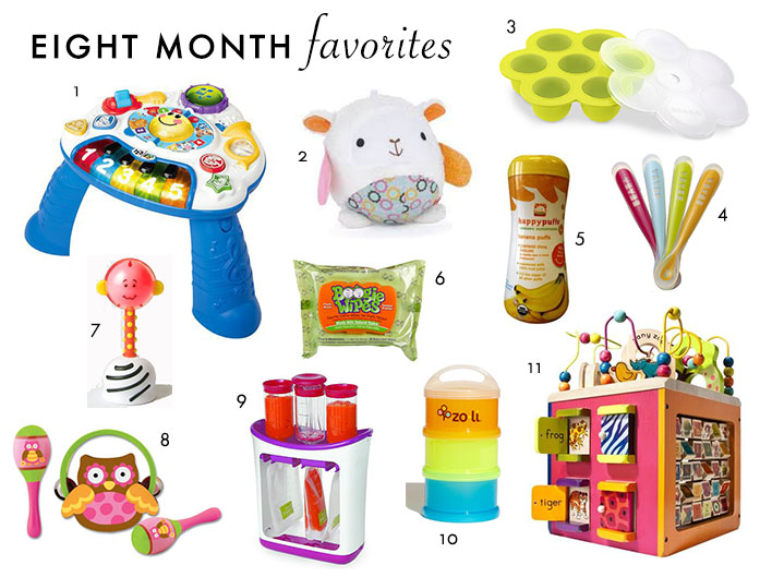 Monthly Baby Favorites: Eight Months | Plum Pie