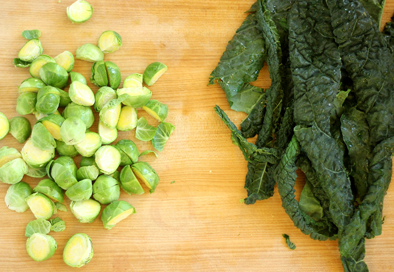 Kale + Brussels Sprouts Salad | Plum Pie