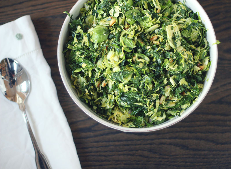 Kale and Brussels Sprouts Salad | Plum Pie