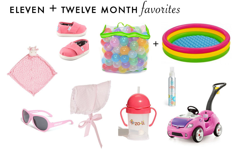 Eleven + Twelve Month Baby Favorites